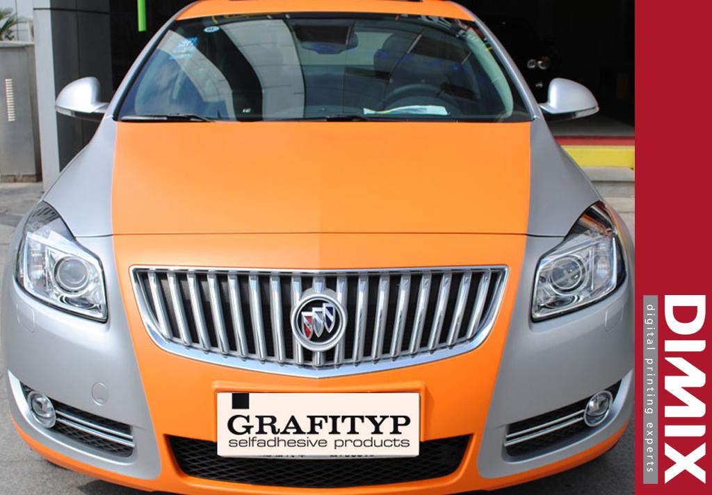 Car Wrap met GrafiWrap matte car wrapping folie - foto 1