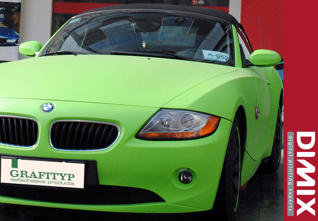Car Wrap met GrafiWrap matte car wrapping folie - foto 2