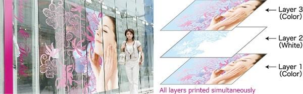 Mimaki CJV300 3-layer-printing