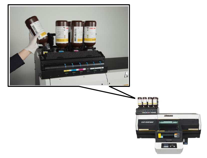 Mimaki UJF-MkII series MBIS bulk ink systeem
