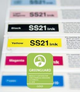 Mimaki SS21 inkten Greenguard Gold Certificate