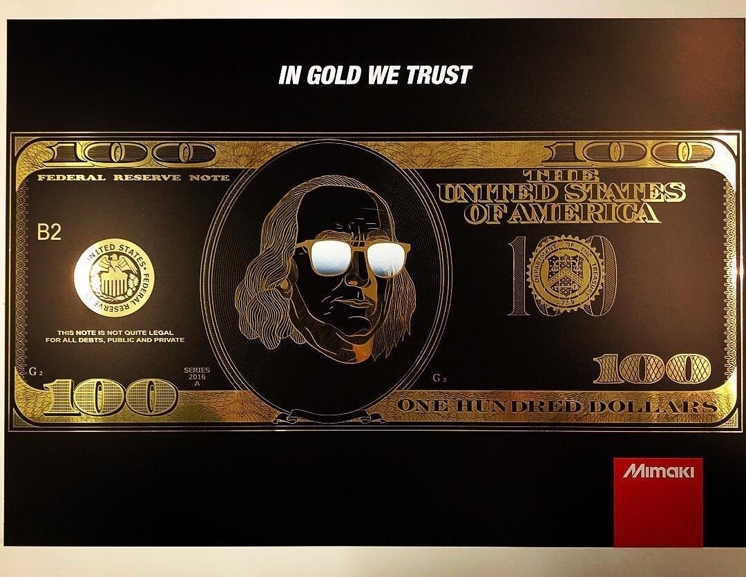 UCJV series - bedrukken goudkleurige folie