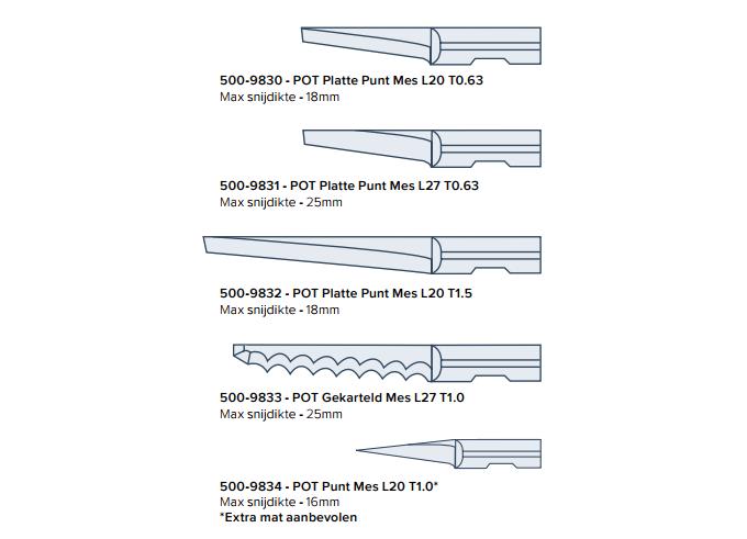 messen-pneumatisch-oscillerende-tool - Summa vlakbed snijtafels