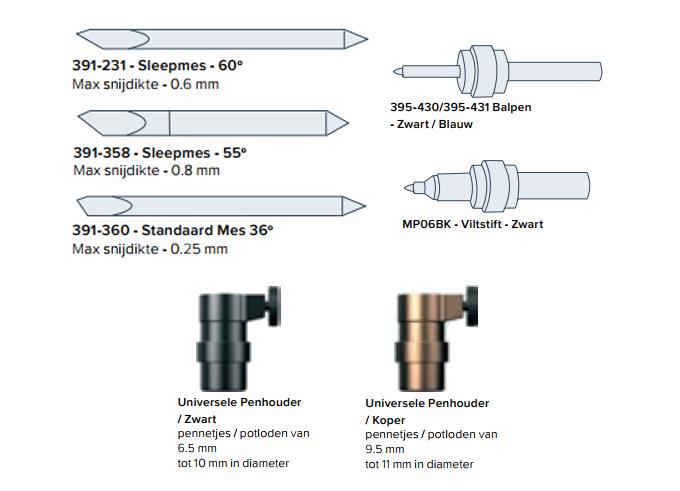 sleepmessen-en-pennen-voor-de-Summa-F-Series-Vlakbed-Snijplotters