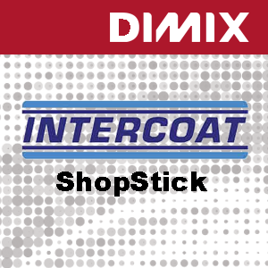 Intercoat 1610 R2xG - Shopstick wit glanzende monomere printfolie 100 micron - verwijderbare grijze lijm luchtkanalen- rol 1372mm x 50m