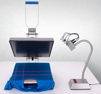 Laser alignment systeem voor gebruik met hittepersen