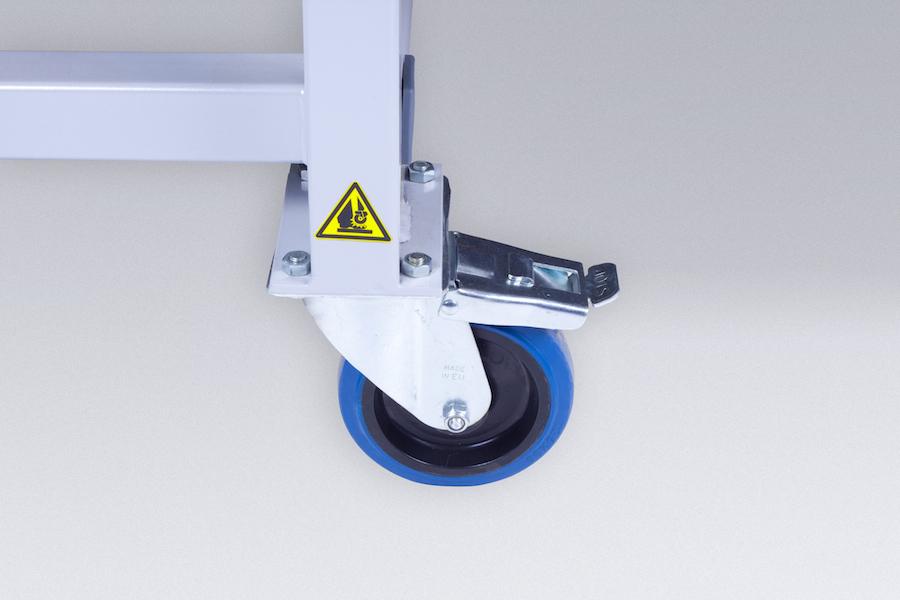 bubblefree applicator wielen voorzien van remmen