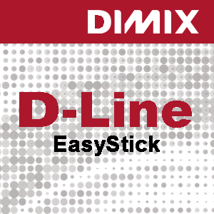 D-Line EasyStick PP banner 160 micron low tack adhesive - Rol 1270mm x 30m