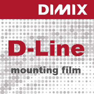 D-Line M80 - Ultra-clear Mounting Film - Rol 1300mm x 50m