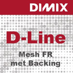 D-Line Mesh FR met backing - 370 g/m2 - meshdoek met kunststof liner - wit mat - B1 - Rol 1600mm x 50m