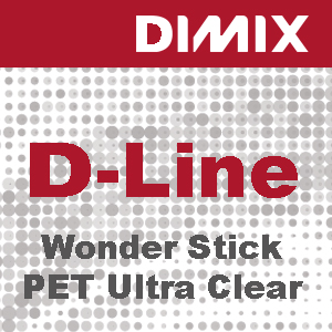 D-Line Wonder Stick PET Ultra Clear Solvent - Rol 1270mm x 30m