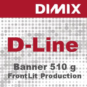 D-Line Frontlit Production FR - 510 g/m2 - gegoten pvc-spandoek - B1- Rol 2500mm x 50m