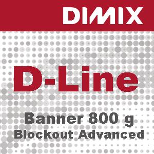 D-Line Blockout Advanced FR - 800 g/m2 - gegoten pvc-spandoek - B1- Rol 1370mm x 30m