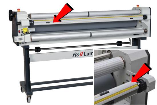 Rolllam laminator - afwikkelas met autogrip