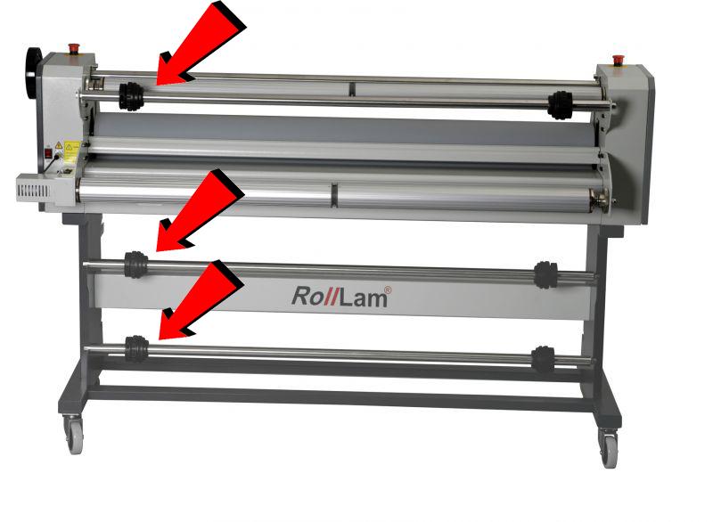 Rolllam laminator - afwikkelassen met quick gripping cones