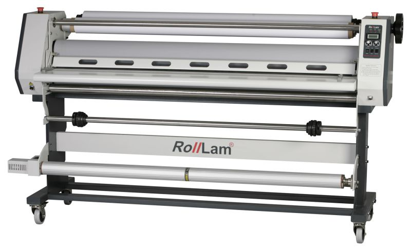 Rolllam laminator - optionele take up unit voorzijde