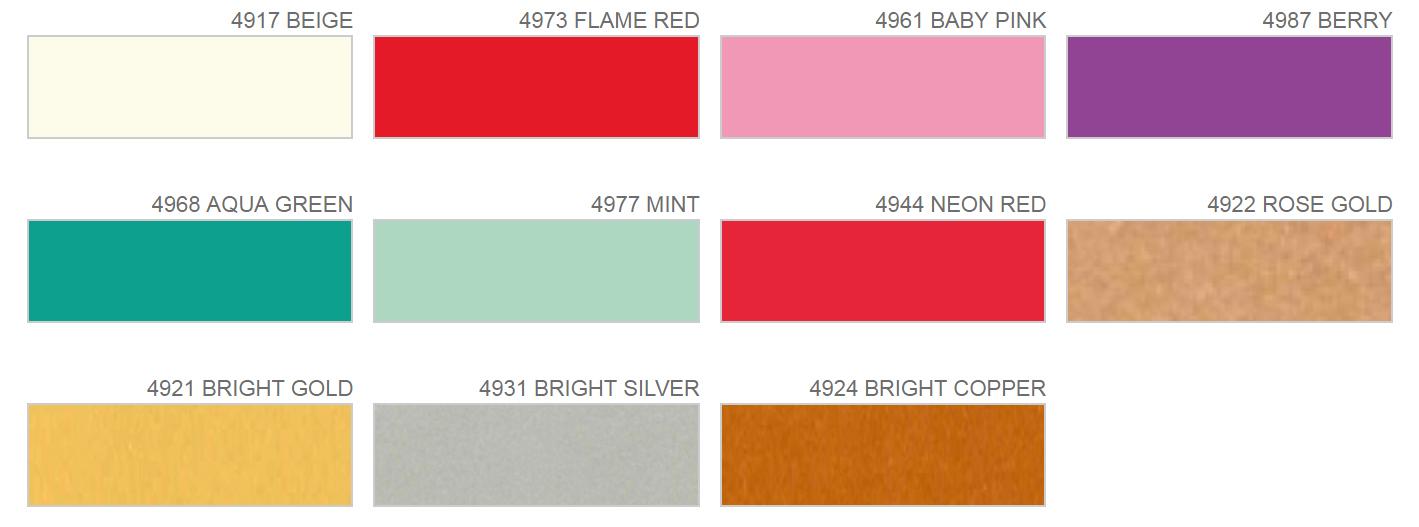Poliflex Turbo - nieuwe kleuren
