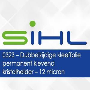 0323 - Sihl Dubbelzijdige kleeffolie aan beide zijden permanent klevend kristalhelder - 12 micron
