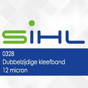 0328 - Dubbelzijdige kleefband - 12 micron