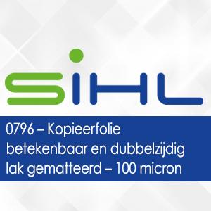0796 - Kopieerfolie betekenbaar en dubbelzijdig lak gematteerd - 100 micron