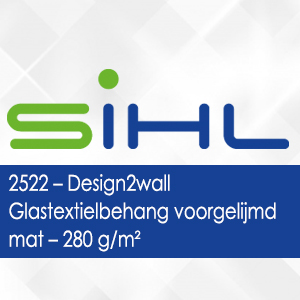 2522 - Design2wall Glastextielbehang voorgelijmd mat - 280 g/m2