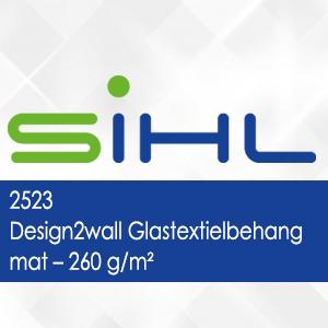 2523 - Design2wall Glastextielbehang mat - 260 g/m2