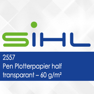 2557 - Pen Plotterpapier half transparant - 60 g/m2