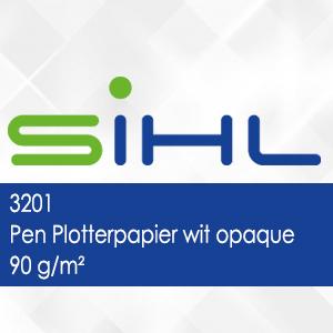 3201 - Pen Plotterpapier wit opaque - 90 g/m2