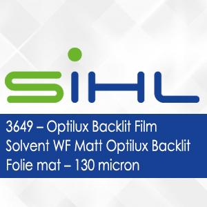 3649 - Optilux Backlit Film Solvent WF Matt Optilux Backlit Folie mat - 130 micron
