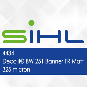 4434 - Decolit BW 251 Banner FR Matt - 325 micron