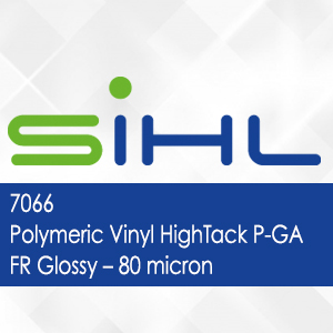 7066 - Sihl Polymeric Vinyl HighTack P-GA FR Glossy - 80 micron