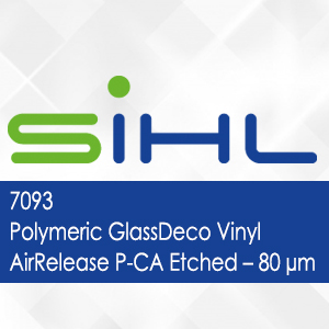 7093 - Polymeric GlassDeco Vinyl AirRelease P-CA Etched - 80 micron