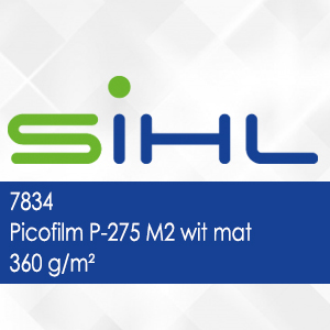 7834 - Picofilm P-275 M2 wit mat - 360 g/m2