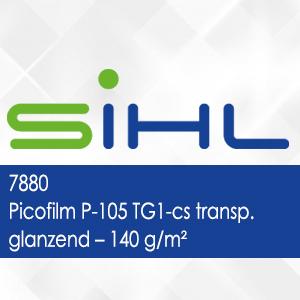7880 - Picofilm P-105 TG1-cs transparant glanzend - 140 g/m2