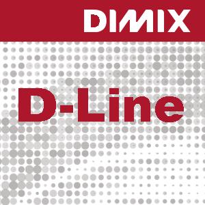 D-Line P4166 - wit glanzende monomere blockout printfolie 95 micron - semi-permanente zwarte lijm