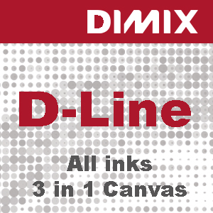 P3808 - D-Line All ink 3 in 1 canvas- 100% katoen canvas - 360 g/m2