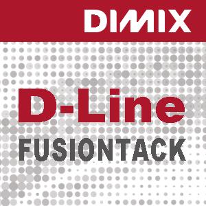 D-Line Fusiontack - Wit glanzende polymere printfolie - 100 micron- Permanente transparante lijm - Rol 1370mm x 50m