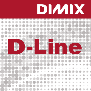 D-Line P8110 - Gegoten printfolie - wit - transparante lijm
