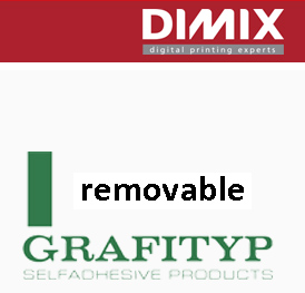 Grafitack R09 White Gloss Removable - 610 mm, rol 50 m