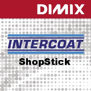 P4280 - Intercoat 1441 R3xG - ShopStick wit matte printfolie - Verwijderbare grijze lijm met luchtkanalen