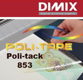 Poli-Tack 853 Low tack flex/flock transfertape, rol 762mm x 25m