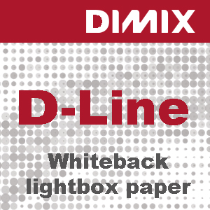 P3130 - D-Line Whiteback lightbox paper - 150 g/m2 - wit satijnglans