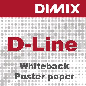 P3146 - D-Line Whiteback posterpapier 200 g/m2 - wit satijnglans - FSC UV & LATEX