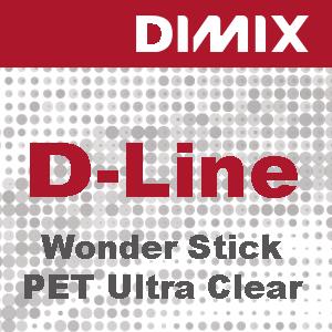 P3496 - D-Line Wonder Stick PET Ultra Clear - Solvent