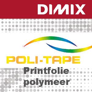 P6185 - Poli-Print 1003 PG- Wit glanzende polymere printfolie - Folie 7 jaar - 75 micron- Permanent grijze lijm met luchtkanalen
